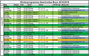 Winterprogramma 2016
